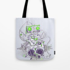 Hippy robot Tote Bag