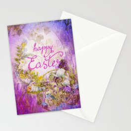 Purple Easter Stationery Cards