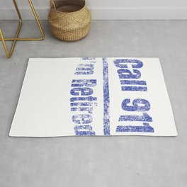 Retired Police Retirement Distressed graphic Rug