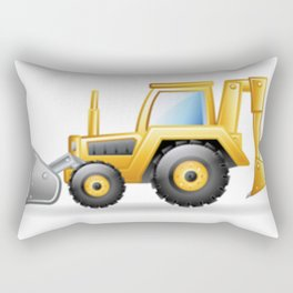 Yellow Excavating Tractor Icon Rectangular Pillow
