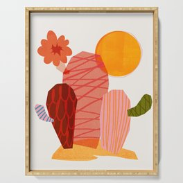 Abstraction_Cactus_&_Sun Serving Tray