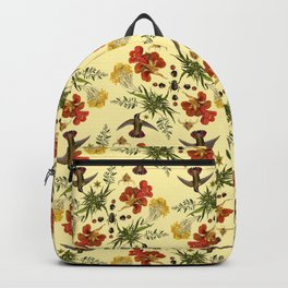 Hummingbirds in Summer. botanical nature pattern. Backpack