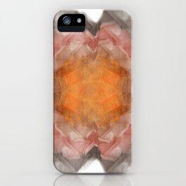 Fractal 20 - Orange iPhone Case