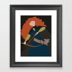 Merida - Brave - Minimalist Framed Art Print