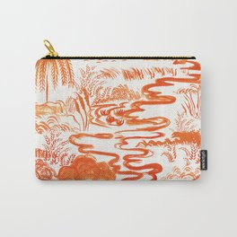 Tangerine Toile  Carry-All Pouch