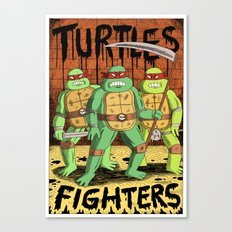 TURTLES FIGHTERS Canvas Print