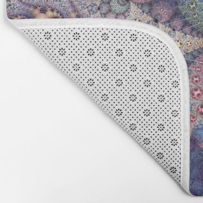 Unending patterns in a fractal design Bath Mat