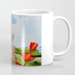 Tulips over Paris Coffee Mug
