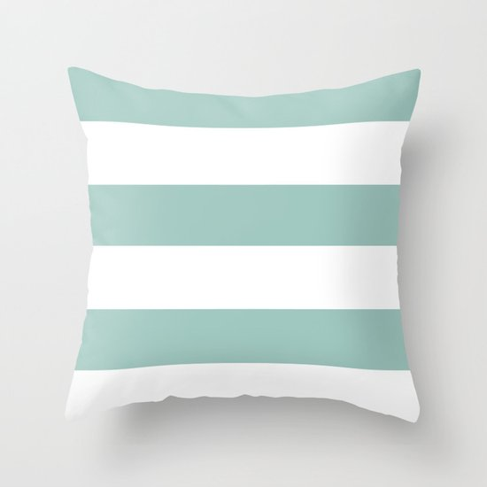 Maine Ocean Cabana Stripes Throw Pillow