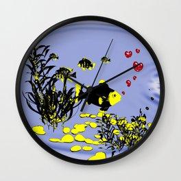 in love under water Wall Clock