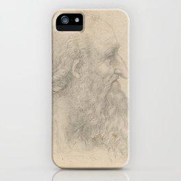 Bearded man - Leonardo Da Vinci iPhone Case
