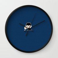 spock Wall Clocks featuring Star trek vulcan llap Spock by spaceita