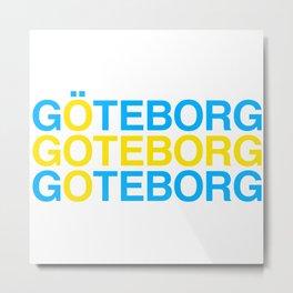 GOTEBORG Swedish Flag Metal Print