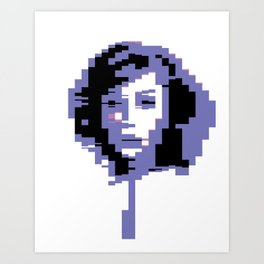 8 Bit Portrait of a Girl Art Print