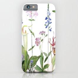 Botanical Garden Flower Wildflower Watercolor Art iPhone Case