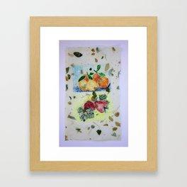 Oranges and Strawberries Framed Art Print
