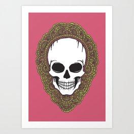 Skull Drawing Meditation Art Print