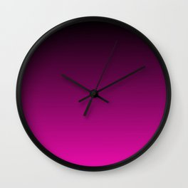 Black and Magenta Gradient Wall Clock