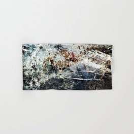 Rusty Scratched Metal Weathered Texture Abstract Hand & Bath Towel