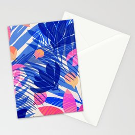 Breezy Tropics / Bright Abstract Floral Print Stationery Cards