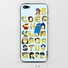 Simpsons Alphabet iPhone Skin