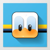 donald duck Canvas Prints featuring donald duck by designoMatt