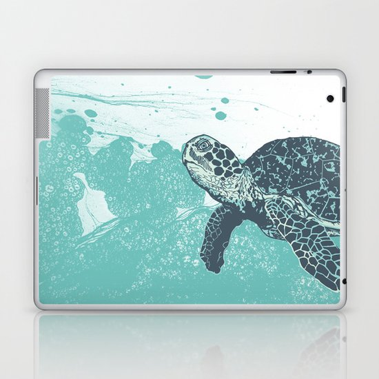 Sea Foam Sea Turtle Laptop & iPad Skin