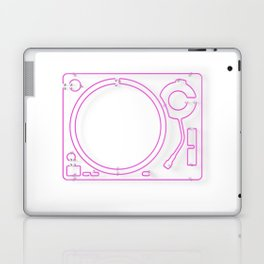 Neon Turntable 2 - 3D Art Laptop & iPad Skin