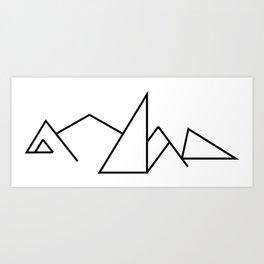 Seven Summit Mountains Geographic Design Art Print