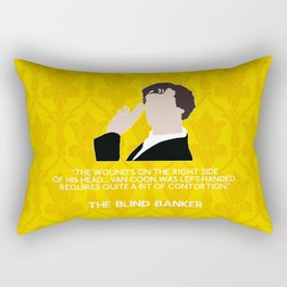 The Blind Banker - Sherlock Holmes Rectangular Pillow