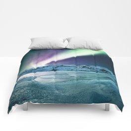 aurora in iceland Comforters