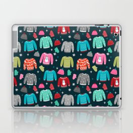 Winter Sweater weather festive holiday snowflakes snow day fun sledding Laptop & iPad Skin