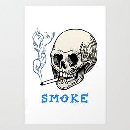 S M O K E Art Print