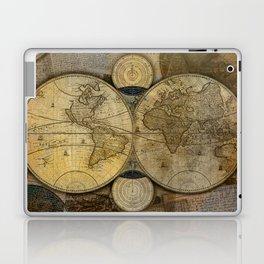 """""""Vintage paper & Maps (burlap texture)"""" Laptop & iPad Skin"""