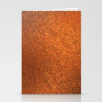 gold foil Stationery Cards featuring Gold Foil Texture 4 by Robin Curtiss