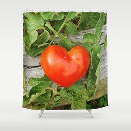 Heart Shaped Tomato Shower Curtain