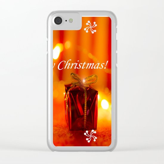 Merry Xmas! Clear iPhone Case
