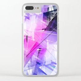 Replica - Geometric Abstract Art Clear iPhone Case