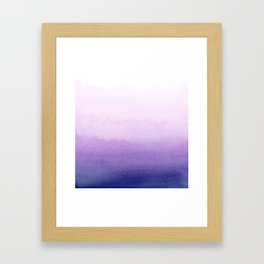 Purple Watercolor Design Framed Art Print