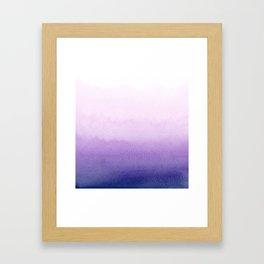Purple Watercolor Design Framed Art Print