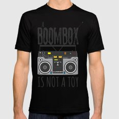 A Boombox is not a toy Mens Fitted Tee MEDIUM Black