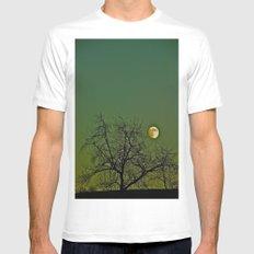 Tangled Tree Moon MEDIUM White Mens Fitted Tee