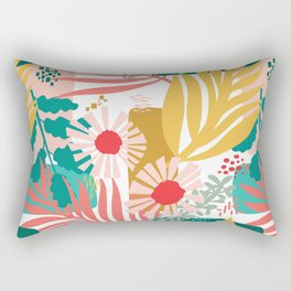 Color and flowers around the block Rectangular Pillow