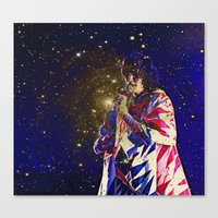 karen hallion Canvas Prints featuring Karen O by AmelieObscura