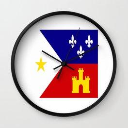 Acadiana Flag Wall Clock