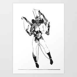 Bondage Burn Victim (Anthony Cooper) Art Print