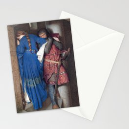 Hellelil and Hildebrand, the meeting on the turret stairs by Frederic William Burton Stationery Cards