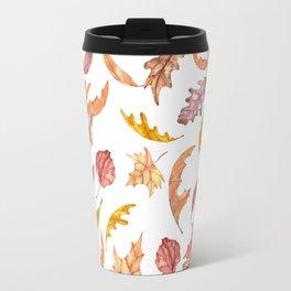 Falling Autumn Leaves Collage Travel Mug