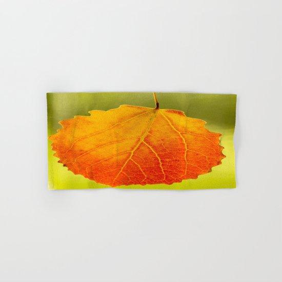 Colorful Autumn Leaf Hand & Bath Towel