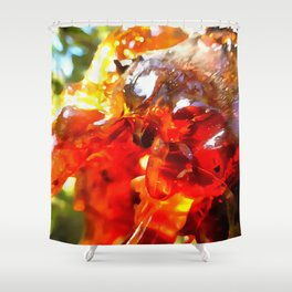 Apricot Resin Abstract Shower Curtain